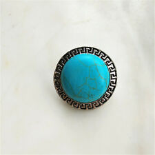 Fashion Jewelry Turquoise Snaps Chunk Charm Button For Noosa Leather Bracelets &