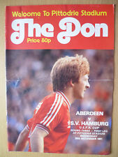 1981 UEFA CUP- ABERDEEN v S. V. HAMBURG, SIGNED BY PETER WEIR- TEAM PLAYER