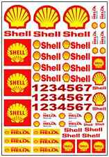 1/64, 1/87 - DECALS FOR HOT WHEELS, MATCHBOX, SLOT CAR:  GAS, OIL, RACE BRAND #