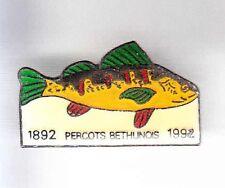 RARE PINS PIN'S .. SPORT PECHE FISHING POISSON PERCOTS BETHUNES 59 ~AL