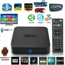 INTERNET TV BOX mlogic MIRACAST ANDROID 4.4 QUAD CORE RAM KODI XBMC 8GB MXQ IPTV