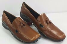 Sesto Meucci Women's Tassel Driving Shoes Moccasins Brown Italy EUC! Size 9 M