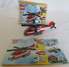 Lego Creator #31013 Red Thunder Helicopter 3in1 66 pcs Ages 6-12 100% complete