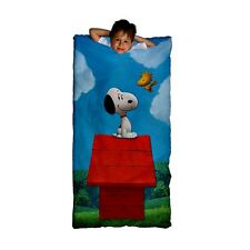 Snoopy Peanuts Movie Slumber Sleeping Bag with Backpack Woodstock NEW