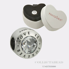 Authentic Pandora Silver Love Is Forever Bead with Gift Box USB795000