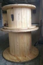 Wooden Spool Cable Wire Reels , Great for furniture or goats.  H21 x D36