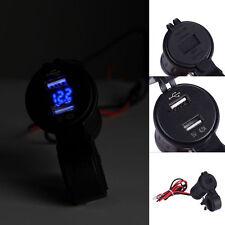 12V-24V 4.2A Motorcycle Cigarette Lighter Dual USB Car Phone Charger Voltmeter
