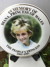 IN MEMORY OF DIANA, PRINCESS OF WALES THE PEOPLE'S PRINCESS 1961-1997 PLATE