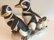 """Franklin Mint """"Walk This Way"""" Penguin By Renowned Artist Michelle Emblem"""