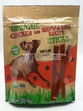 Trader Joe's Organic Chicken Brown Rice Recipe Sticks Dog & Puppy Treats Snacks