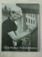 Andy Warhol ~ After de Chirico . Waddington . 1988 . Fast 1st Class Royal Mail .