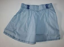 New Crazy 8 Button Light Blue Denim Chambray Skirt 5 6 year NWT Sea Side Bright