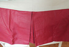 TWIN Size Bed skirt~Lined~USA Made~ COSTUME MADE BEAUTIFUL WINE COLOR
