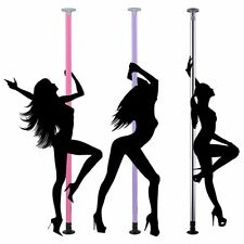 Dance Pole Full Kit Portable Stripper Exercise Fitness Club Party Dancing 3 Opt