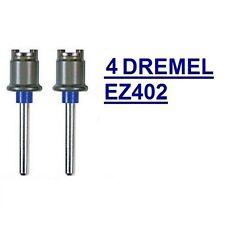 4 NEW DREMEL EZ LOCK MANDREL EZ402, USE WITH ALL DREMEL EZLOCK ACCESSORIES