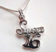 It's My SWEET 16 Birthday Party Necklace 925 Sterling Silver Corona Sun Jewelry