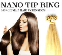 "16"" 18"" 20"" 1 Gram nano tip ring loop 100% Human Hair Extensions (micro bond UK)"