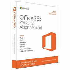 Microsoft Office 365 Personal-Abonnement-Lizenz( 1 Jahr )-1 Tablet, 1 PC NEU&OVP