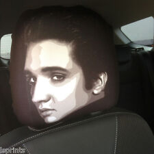 CAR SEAT HEAD REST COVERS 2 PACK ELVIS FACE DESIGN MADE IN YORKSHIRE