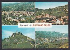 CUNEO SANTO STEFANO BELBO 09 SOUVENIR - VEDUTINE Cartolina viaggiata 1986