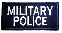 MILITARY POLICE CLOTH BADGE sew on bag jacket patch British Army Navy no-498