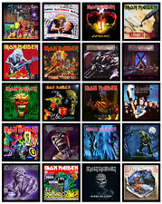 "IRON MAIDEN 20 pack of 7"" singles discography magnets lot (set 2 of 2)"