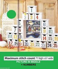 ADVENT CALENDAR COUNTDOWN TO CHRISTMAS - CROSS STITCH PATTERN  A9L3S
