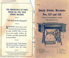 SINGER 127 127-3 128 128-3 USERS OPERATING MANUAL & Adjustment Instructions *CD