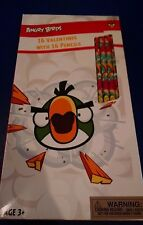 Angry Birds Valentines 16 Cards & 16 Pencils New 2015