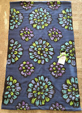Vera Bradley Indigo Pop Dorm Rug 3' x 5' Blue Multi Area Throw Rug 12406-126