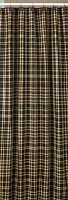 SHOWER CURTAIN 72X72 IN RED BLACK GOLDEN TAN PLAID CAMBRIDGE BY PARK DESIGNS