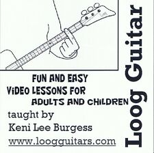 Loog Guitar CD video lesson 3 string cigar box home schooling children keni lee