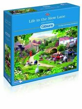 GIBSONS LIFE IN THE SLOW LANE 1000 PIECE NARROW BOATS ON CANAL JIGSAW PUZZLE