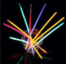 """Parti Faveurs Rave Disco 100 x 8 """"glow sticks bracelets colliers couleurs fluo"""