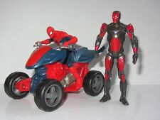 Marvel Universe Toy Figure Set  SPIDER-MAN WITH QUADBIKE and IRON MAN