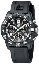 Luminox New 3081 Navy Seal Colormark Chronograph Black Rubber Mens Watch