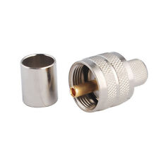 UHF(PL259) male plug crimp RF connector for LMR400 RG8 RG213 RG214 cable
