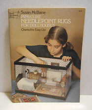 Miniature Needlepoint Rugs for Dollhouses ~ 37 Patterns by Susan McBaine 1976