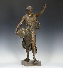 Emil Louis Picault (1833-1915) Gr Bronze Skulptur eines Poeten 1890 Statue Figur