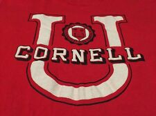 Vintage CORNELL UNIVERSITY Velva Brand Red Color 100% Cotton T Shirt. Size L