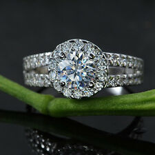 Elegant Jewelry 18K White Gold Plated Crystal Wedding Engagement Ring SIZE 7