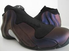 2008 NIKE AIR FOAMPOSITE FLIGHTPOSITE  BLACK EGGPLAT PURPLE SILVER GREY SIZE 13