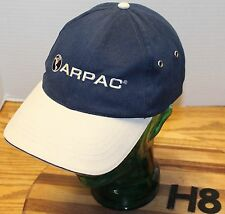 ARPAC PACKING SOLUTIONS HAT BLUE & GRAY ADJUSTABLE IN VERY GOOD CONDITION