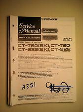 Pioneer ct-760 s22 service manual original repair book stereo tape player