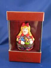 "NEW VILLEROY & BOCH "" TREATS GERMANY"" GIRL WITH TOYS LIMOGE TYPE BOX CHRISTMAS"