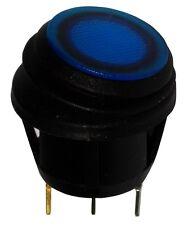 Interrupteur commutateur contacteur bouton à bascule bleu SPST OFF-(ON) 10A/28V