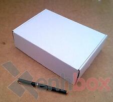 25 Cajas de cartón para envíos postales 23x17x6cm. Automontables Microcanal blan