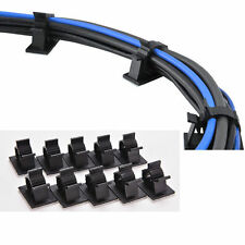 Best 10x Cable Cord Wire Organizer Plastic Clips Ties Fixer Holder Self-Adhesive