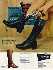 PUBLICITE ADVERTISING 014   1967   HEYRAUD   chaussures bottes