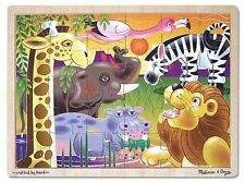 Melissa & Doug African Animals Kids Wooden Jigsaw Puzzle 24pc 2937